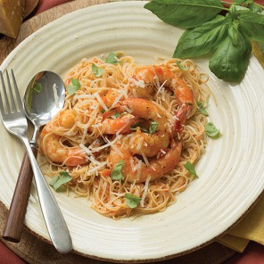shrimp pomodoro and angel hair