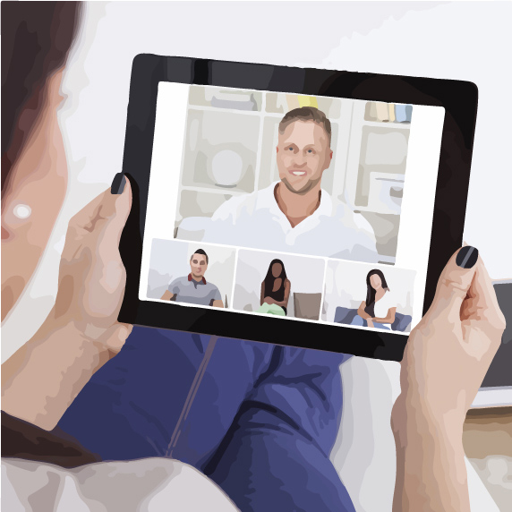 people having a video conference