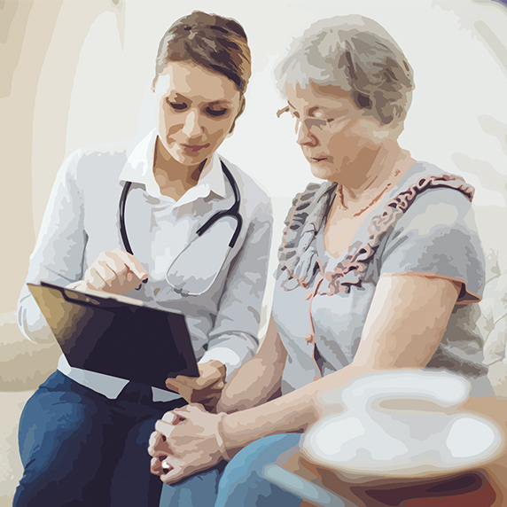 patient making goals with doctor